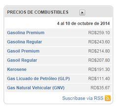 Precio de los Combustibles para la Semana del 4 al 10 de Octubre 2014 en la República Dominicana.