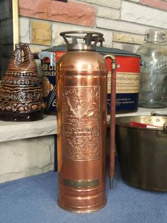 Red Star Copper Fire Extinguisher Vintage Fire by andreasantiques, $135.00