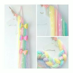 Excited to share this item from my shop: Rainbow unicorn hair bow holder, rainbow bedroom decoration, accessory holder, unicorn bedroom Cute Rainbow Unicorn, Unicorn Kids, Rainbow Bedroom, Unicorn Rooms, Organizing Hair Accessories, Diy Accessories, Unicorn Crafts, Unicorn Decor, Unicorn Hair