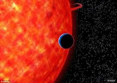 GJ and host star - Astronomers have detected light scattered by tiny particles through the atmosphere of a Neptune-sized transiting exoplanet, which suggests a blue sky on this world that is only 100 light-years away.