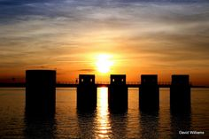 Sunset - Lake Murray Dam by dwilliams2016, via Flickr