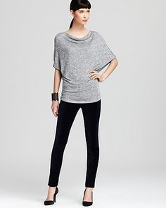 Velvet by Graham & Spencer Top - Lurex Sweater Knit | Bloomingdale's