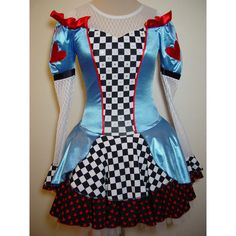Ice Figure Skating Dress size Adult Small Alice in Wonderland Costume... (£125) ❤ liked on Polyvore featuring costumes, black halloween costumes, alice costume, alice in wonderland halloween costumes, alice in wonderland adult costume and alice in wonderland costume