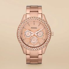 Fossil Stella Stainless Steel Watch - Rose
