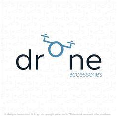 Funny and cute logo design for drone accessories. #logodesign #designschmaus #animallogo #logoforsale #premadelogo #readymadelogo #minimalisticlogo #funnylogo #simplelogo #graphicdesign #drone
