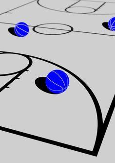 DOMO-A Inspiration blog #illustration #basketball #blue — Designspiration