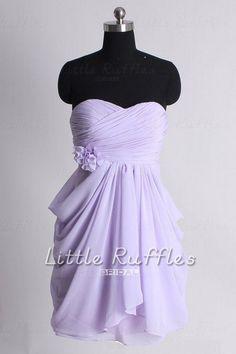 Lavender Bridesmaid DressChiffon Prom Dress by LittleRufflesBridal, $87.99