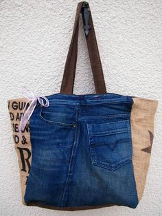 Creation Couture, Reusable Tote Bags, Sewing, Ideas, Fashion, Jean Bag, Kitchen, Throw Pillows, Cowboys
