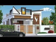 Front elevation designs - Awesome Single Floor Elevation Designs 2019 Small Home Front view Designs House Elevations House Front Wall Design, Single Floor House Design, House Outside Design, Village House Design, Simple House Design, House Design Photos, Cool House Designs, Latest House Designs, Awesome Designs