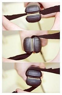 how to curl hair with a flat iron. a life-saver today. - Click image to find more Hair  Beauty Pinterest pins