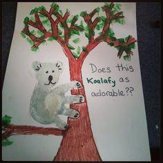 Koala...baby handprint art.