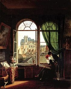 Attributed to Martin Drolling (French, 1752–1817)  Interior with View of Saint-Eustache, ca. 1810