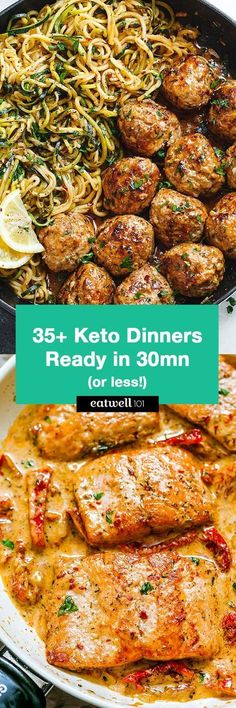 35+ Keto Dinners You Can Make in 30 Minutes or Less - Perfect for helping you get in shape and free up your time in the kitchen!