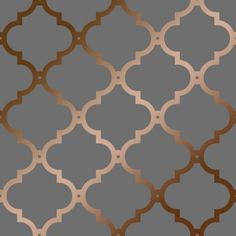 Morocco Trellis Wallpaper Grey, Copper (ILW272818)