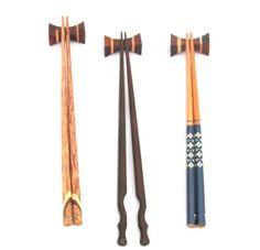 Set of Mixed Wooden Chopsticks and Chopsticks Rest Stands from Thailand…