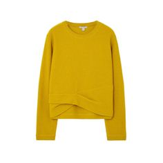I like the little twist at the bottom of this sweater.  I seriously dislike the color though.