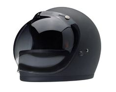 Biltwell Gringo Helmet in matte black with bubble visor