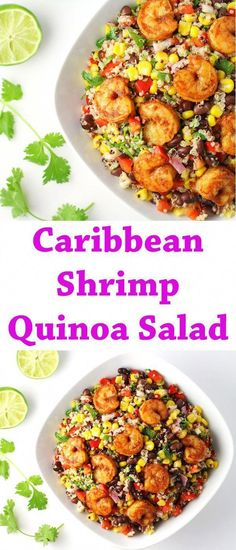 Clean Eating Snacks, Healthy Eating, Shrimp And Quinoa, Quinoa Rice, Cooking Recipes, Healthy Recipes, Healthy Foods, Quinoa Salad Recipes, Avocado Recipes