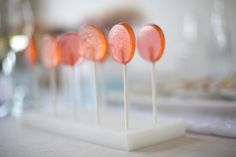 Absinthe Lollipops in pink & peach // photo by Dennis Wise // Styling by @Aleah and Nick | Valley & Co. // food by Lisa Dupar Catering