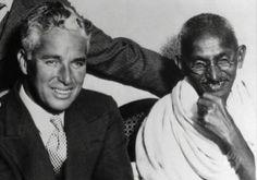 #Charlie Chaplin and #Gandhi.