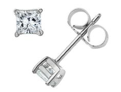 Premium Quality Princess Cut Diamond Solitaire Stud Earrings 2/3 Carat (ctw) in 14K White Gold (SI2) MyJewelryBox. $995.00. If you are not completely satisfied, you can return any order for refund or exchange within 30 days from the date of shipment - shop with confidence!. Free Signature MyJewelryBox Gift Box