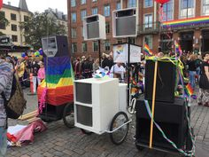 Bliss festival bike at pride parade Copenhagen