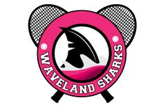circular logo design for wave-land sharks tennis. Best Logo Maker, Circular Logo, Round Logo, Round Design, Sharks, Wave, Tennis, Decorative Plates, Logo Design