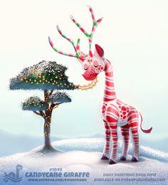 #1849-Candycane Giraffe
