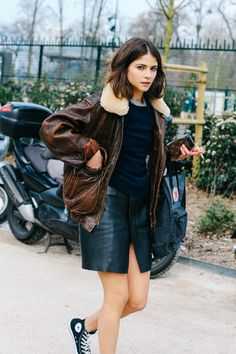 vintage leather & chucks. Paris.
