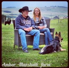 Amber Marshall's real family. Shawn, Remi at feet and China in the background