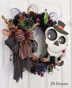 Halloween / dia de los muertos wreath