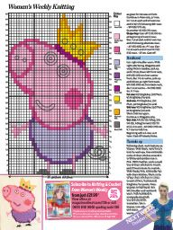 """I saw this in """"July in Woman's Weekly July Jumper Knitting Pattern, Knitting Charts, Knitting Patterns Free, Free Knitting, Baby Knitting, Free Crochet, Free Pattern, Knit Crochet, Crochet Patterns"""