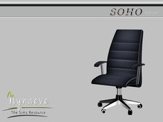 Soho Office - Desk Chair  Found in TSR Category 'Sims 4 Miscellaneous Comfort'