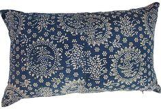 chinese batik pillow Chinese Fabric, Batik Pattern, Vintage Market, Shibori, Vintage Furniture, Indigo, Blues, Textiles, Tapestry