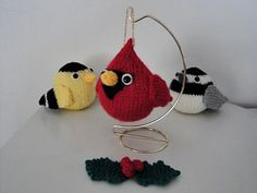 Ravelry: Red Cardinal Christmas Ornamnet pattern by Chiwaluv Amigurumi Critters