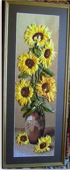 Sunflowers #ribbonEmbroidery