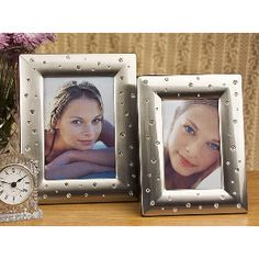 5X7 PEWTER FINISH PHOTO FRAME WITH STONES at $29.00