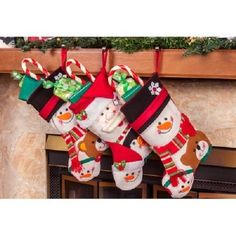 Christmas Stockings 3 PC Set Hanging Fillable Holiday Treats Decorations Mantel #ImperialHomes