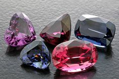 Spinels occur in a broad range of colors but they are seldom greenish and never yellow. As a result of their resemblance to rubies, red spinels are clearly the most valuable and sought after but there are few stones to be found. Prices for fine large Burmese red spinels of over 5 carats in weight can retail for over $20,000 per carat. Tanzanian stones are slightly cheaper and just as nice, but hardly available these days.