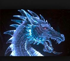 Dragon ice sculpture