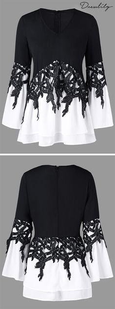 Industrious 2018 Summer New Women Lace Stitching V-neck Drawstring Shirt Women's Clothing