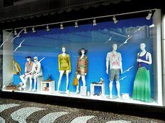 Vitrine Atlântico Shopping - January 2013 - Balneário Camboriú SC Brasil - summer colors