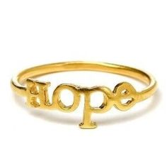Hope plated gold color Ring