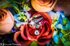 Donnacille Photography - Bride & Groom detailed ring shot. Bridal Bouquet.