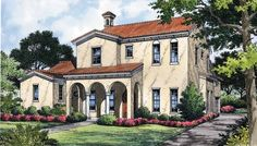 Italianate House Plan with 3411 Square Feet and 4 Bedrooms(s) from Dream Home Source | House Plan Code DHSW43395