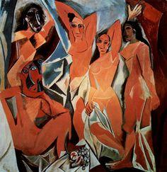 Les Demoiselles d/'Avignon 1907 by Pablo Picasso Painting Fine Art repo FREE S//H