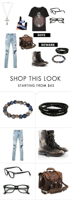 """""""Santiago - Emerson"""" by mox96 ❤ liked on Polyvore featuring Porsche Design, Ksubi, H&M, Tom Ford, R13, men's fashion and menswear"""