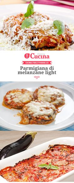 Parmigiana di melanzane light Gratin, Light Recipes, Lasagne, Vegetable Dishes, Food Hacks, Italian Recipes, Cooking Tips, Whole Food Recipes, Meal Prep