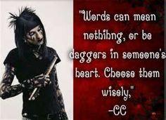 Image Detail for - cc bvb unique black veil brides quotes qoute dagger  must love cc.