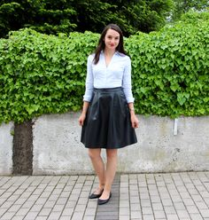 Countdown to Friday Leather Midi and flats
